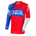 ONeal Element Shirt Burnout Red-White-Blue 2018