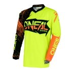 ONeal Element Shirt Burnout Black-Hi-viz-Orange 2018