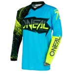 ONeal Element Shirt Burnout Black-Blue-Hi-viz 2018