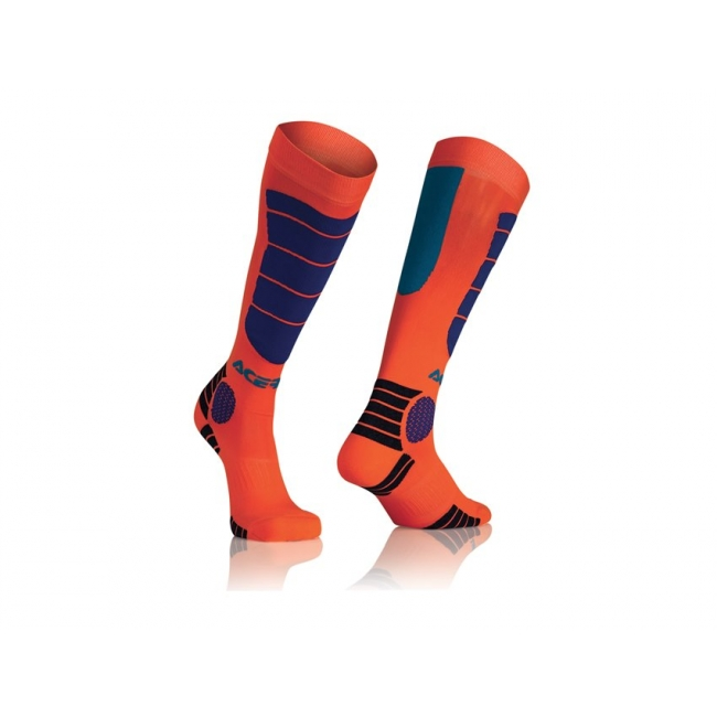 Acerbis MX Impact Socken Orange-Blue