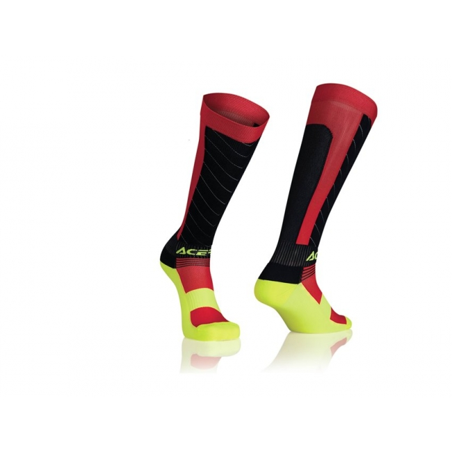 Acerbis MX Compression Socken black-yellow