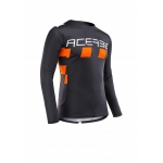 Acerbis Jersey MX Checkmate Black-Orange 2020