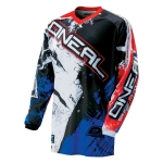 ONeal Element Shirt Shocker Black-Blue-Red 2016-2018