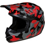 Z1R Youth Rise Helmet Camo Red Kids
