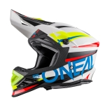 ONeal 8Series Helm Aggressor white/blue 2017