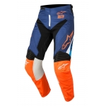 Alpinestars Racer Hose Supermatic Dark Blue-Fluo Orange-Aqua 2018