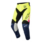 Alpinestars Youth Racer Hose Supermatic White-Dark Blue-Fluo Yellow Kids 2018