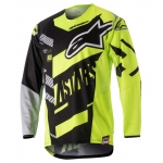 Alpinestars Youth Racer Shirt Screamer Black-Fluo Yellow-Gray Holiday Release 2018