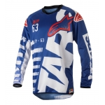 Alpinestars Racer Shirt Braap Blue-White-Red 2018