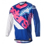 Alpinestars Youth Racer Shirt Venom Blue-Fluo Pink-White Kids 2018