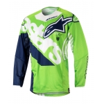 Alpinestars Youth Racer Shirt Venom Fluo Green-White-Dark Blue Kids 2018