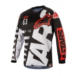 Alpinestars Youth Racer Shirt Braap Black-White-Red Kids 2018