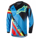 Alpinestars Youth Racer Shirt Supermatic Aqua-Black-Red Kids 2018