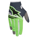 Alpinestars Youth Radar Handschuhe Flight Anthracite-Fluo Green Kids 2018