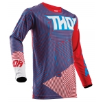 Thor Youth Pulse™ Shirt Geotec Red-Blue Kids 2018 # SALE