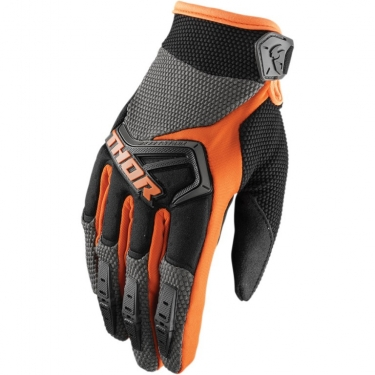 Thor Spectrum Handschuhe Charcoal-Orange 2018-2019
