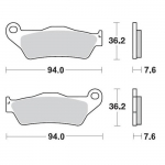 Moto-Master Brake Pads 12 Racing Compound TM front