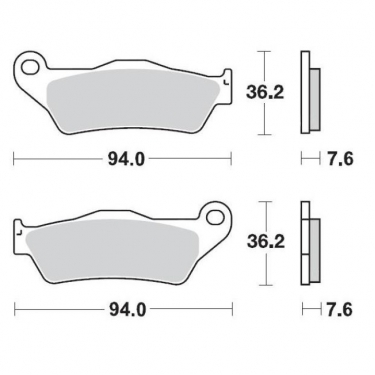 Moto-Master Brake Pads 12 Racing Compound KTM front