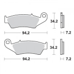 Moto-Master Brake Pads 11 Compound Kawasaki front