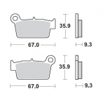 Moto-Master Brake Pads 12 Racing Compound TM rear