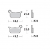 Moto-Master Brake Pads 21 Nitro Compound rear KTM 50 SX 02-, 65 SX 04-08, Husqvarna TC 50 17-, GasGas MC 50 21-