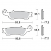 Moto-Master Brake Pads 12 Racing Compound Yamaha front