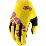100% I-Track Gloves Yellow 2018