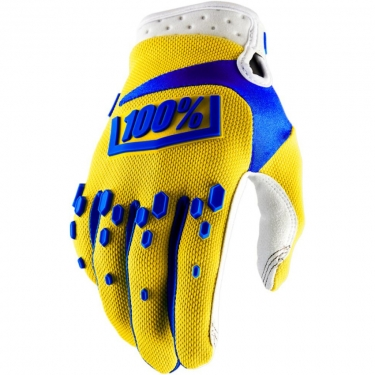 100% Airmatic Gloves Yellow 2018