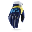 100% Airmatic Gloves Navy-Yellow 2017