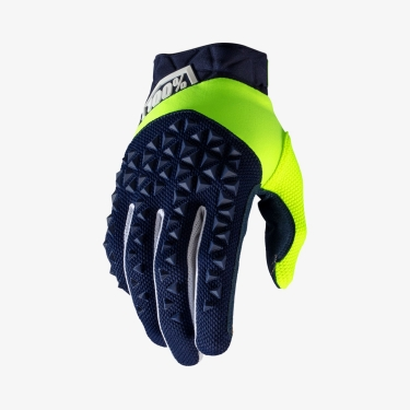 100% Airmatic Gloves Navy-Fluo Yellow 2020