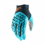 100% Airmatic Handschuhe Steel Grey-Ice Blue-Bronze 2019