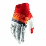 100% RideFit Handschuhe Red-Fluo Orange-Slate Blue 2019