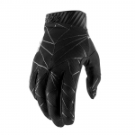 100% RideFit Gloves Black-White 2019