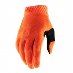 100% RideFit Handschuhe Fluo Orange-Black 2019