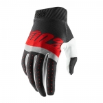 100% RideFit Handschuhe Steel Grey-Red 2019