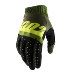 100% RideFit Handschuhe Army Green-Fluo Lime-Fatigue 2019