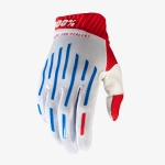 100% RideFit Gloves White-Blue 2020