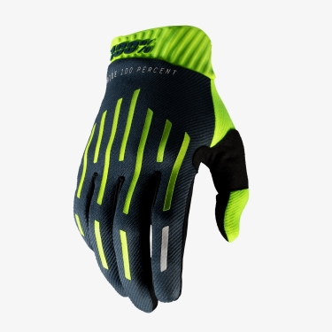 100% RideFit Gloves Yellow-Charcoal 2020