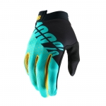 100% I-Track Gloves Black-Aqua 2019 10 - L # SALE