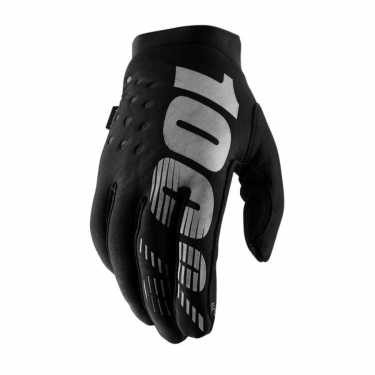 100% Brisker Women's Gloves Black-Grey Thermo-Gloves Ladies 2019