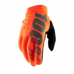 100% Brisker Handschuhe Fluo Orange-Black Thermo-Handschuhe 2019