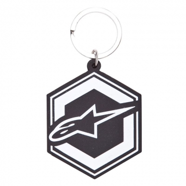 Alpinestars Ignition Key Ring Keyfob Black-White
