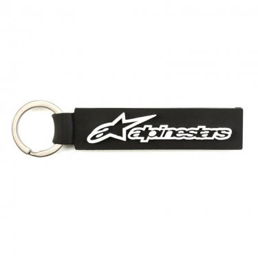 Alpinestars Horizontal Key Ring Keyfob Black-White