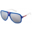 Fox Sonnenbrille The Seventy 4 Matte Red White Blue Chrome Spark