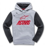 Alpinestars Converce Hoody Tech Fleece Grey Heather-Red