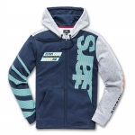Alpinestars Fan Club Zip-Hoody Navy-Heather Grey