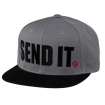 Seven MX Snapback Kappe Send-It grey
