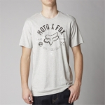 Fox Racing T-Shirt Clockspeed Heather Grey # SALE