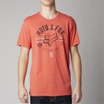 Fox Racing T-Shirt Clockspeed Heather Blood Orange # SALE