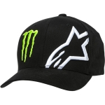 Alpinestars Flexfit Hat Corp Black Monster MX Collection